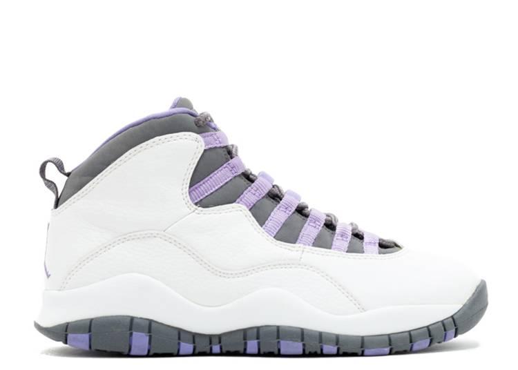 Wmns Air Jordan 10 Retro 'White Medium Violet'