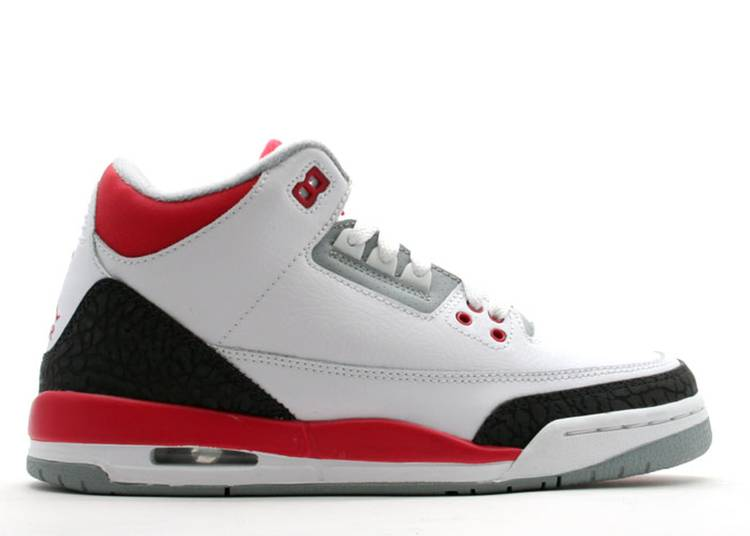 Air Jordan 3 Retro GS 'Fire Red' 2007