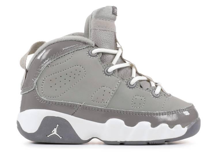 Baby Jordan 9 Retro Infant - Air Jordan - 302354 011 - medium grey ...