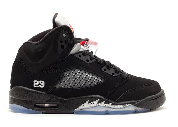 Air Jordan 5 Retro GS 'Black Metallic Silver' 2011