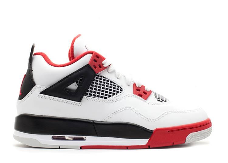 Air Jordan 4 Retro GS 'Fire Red' 2012