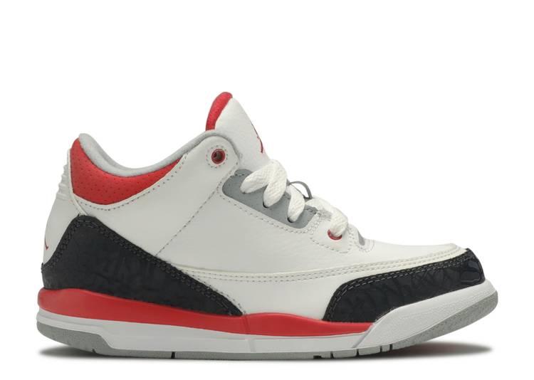 Jordan 3 Retro PS 'White Fire Red' 2013