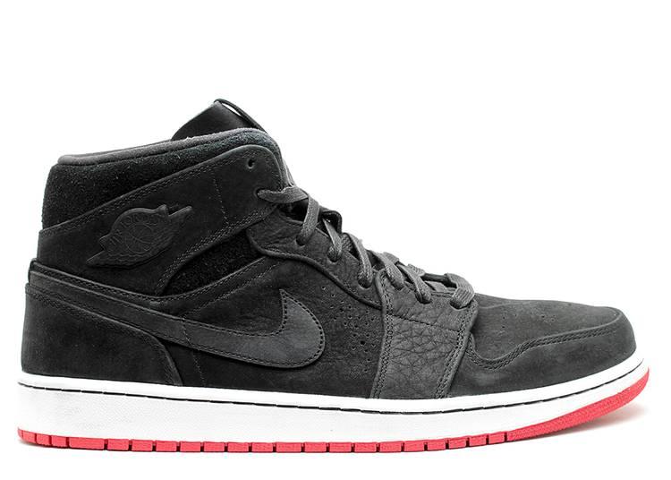 Air Jordan 1 Mid Nouveau 'Black Red'