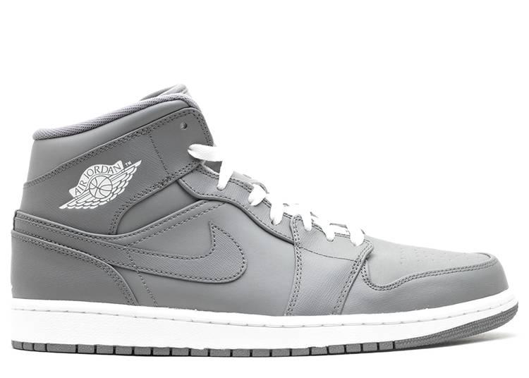 Air Jordan 1 Mid 'Grey White'