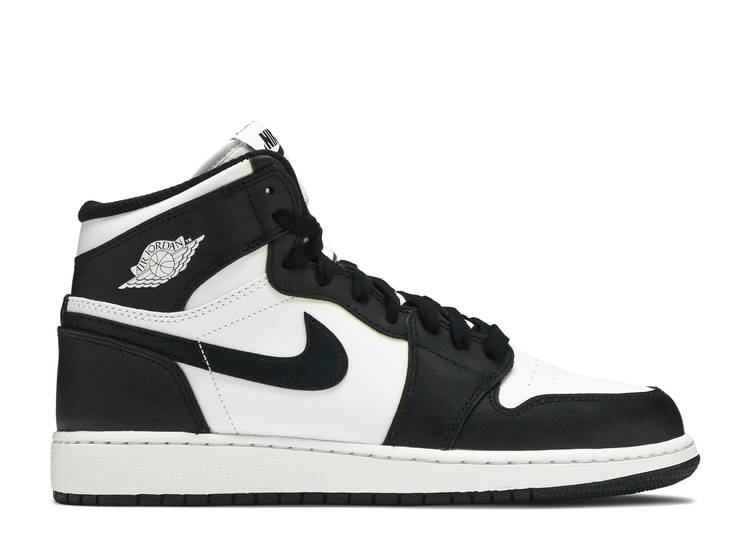 Air Jordan 1 Retro High OG BG 'Black White' 2014