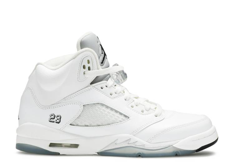 Air Jordan 5 Retro BG 'Metallic White'