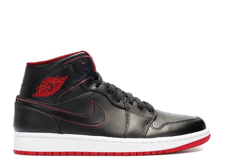 Air Jordan 1 Mid Black Red Black Red Air Jordan 554724 028