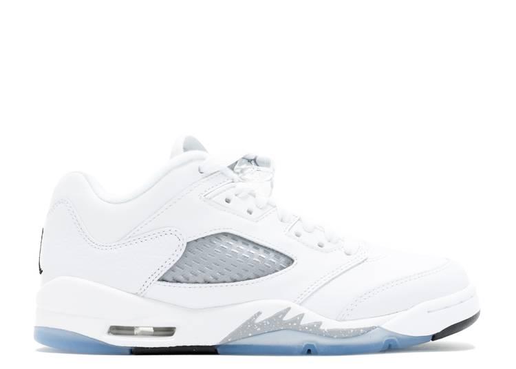 Air Jordan 5 Low GS 'White Wolf Grey'