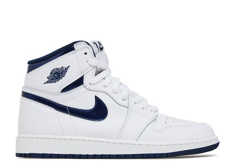 Air Jordan 1 Retro High OG BG 'Metallic Navy'