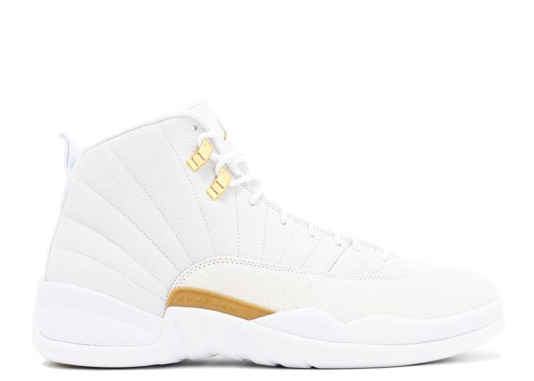air jordan 12 retro white and gold