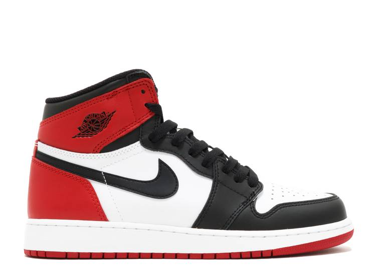 "Air Jordan 1 Retro BG 'Black Toe' 2016 ""black toe 2016 release"""