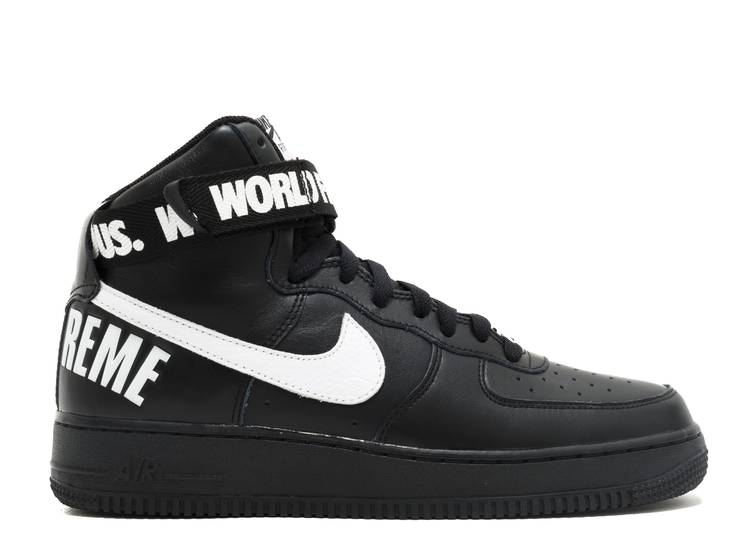 Supreme x Air Force 1 High SP 'Black'
