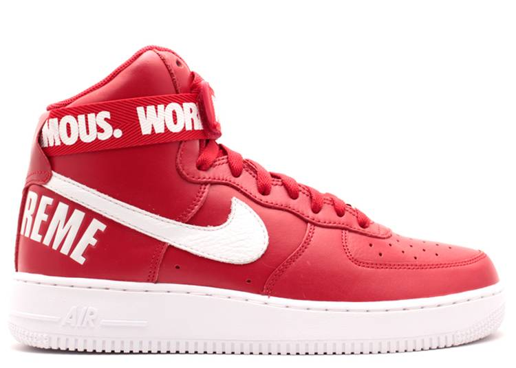 Supreme x Air Force 1 High SP 'Red'