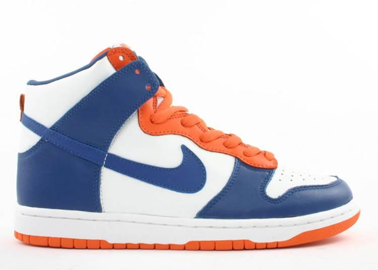 orange blue nike dunks