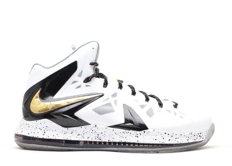 LeBron 10 P.S. Elite+ 'White Gold Black'