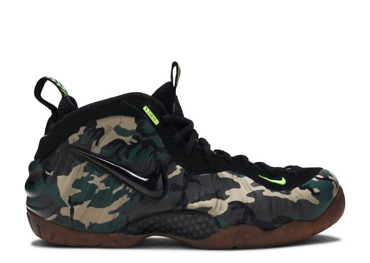 Air Foamposite Pro Prm Le 'Green Camo'