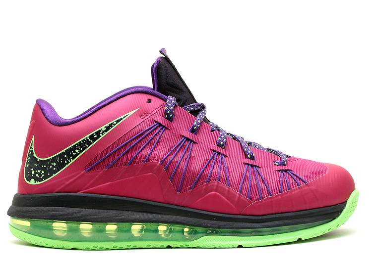 Alinear Amplia gama Espectáculo  Air Max LeBron 10 Low 'LeBroncurial' - Nike - 579765 601 - raspberry  red/court purple-flash lime | Flight Club