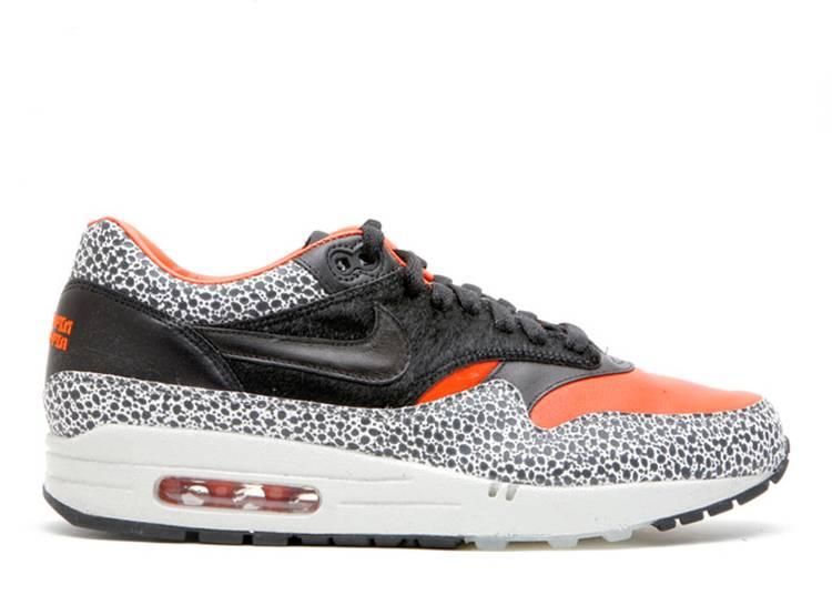 air max 1 orange and black