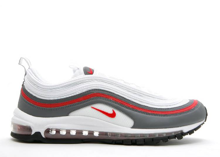 Air Max 97 Nike 312641 163 White Varsity Red Dark Gray Black
