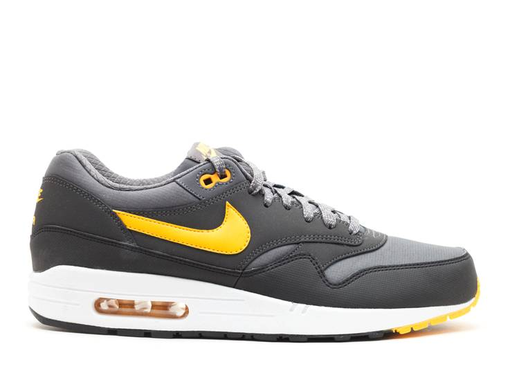nike air max 1 essential dark grey laser orange