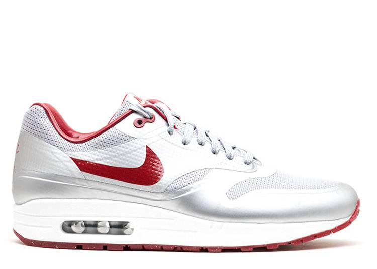 Air Max 1 Hyp QS 'Silver Deep Red'
