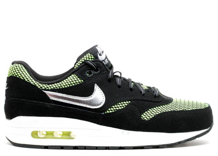 Air Max 1 LE GS 'Black Silver Volt'