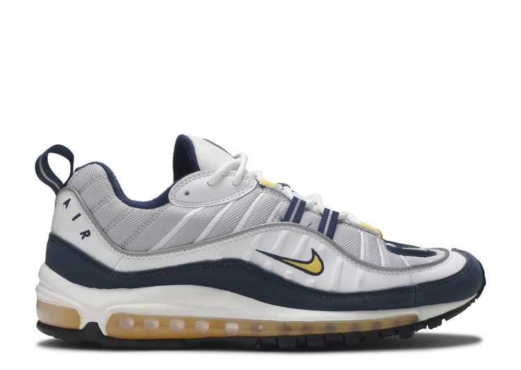 Air Max 98 'Yellow White Navy'