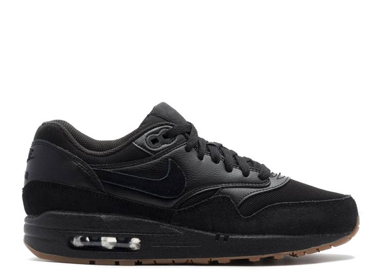 air max 1 black black gum medium brown