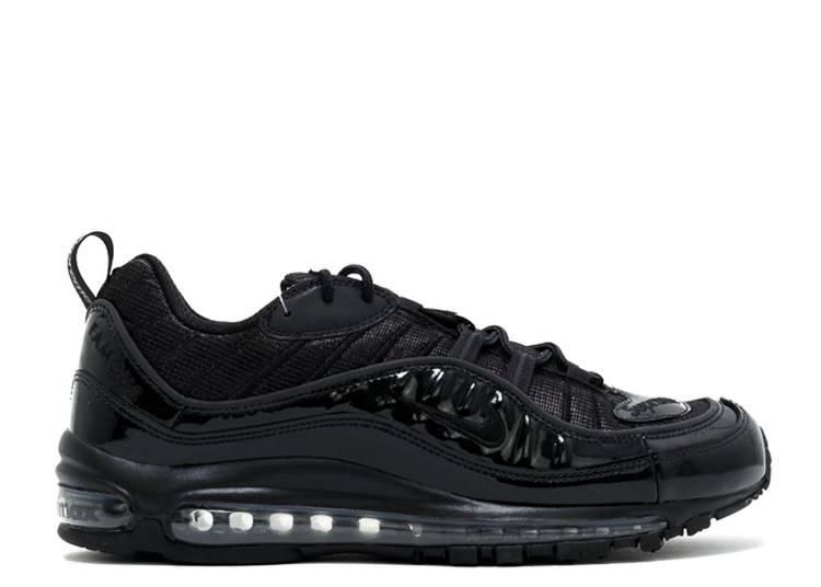 Supreme X Air Max 98 Black Nike 844694 001 Black Black