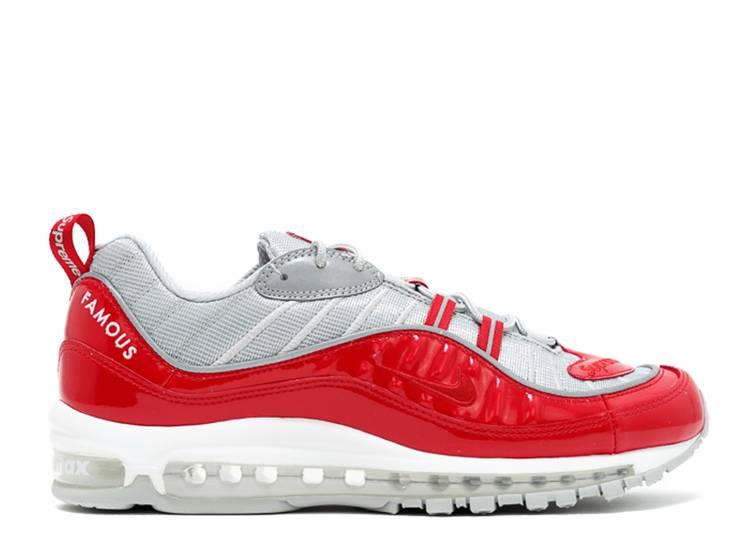 mecánico Animado Frente  Supreme X Air Max 98 'Red' - Nike - 844694 600 - red/reflect  silver/white/varsity red | Flight Club