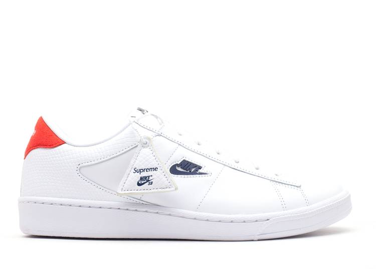 si Torrente explique  Supreme Tennis Classic 'Supreme' - Nike - 556045 146 - white/navy-sport red  | Flight Club
