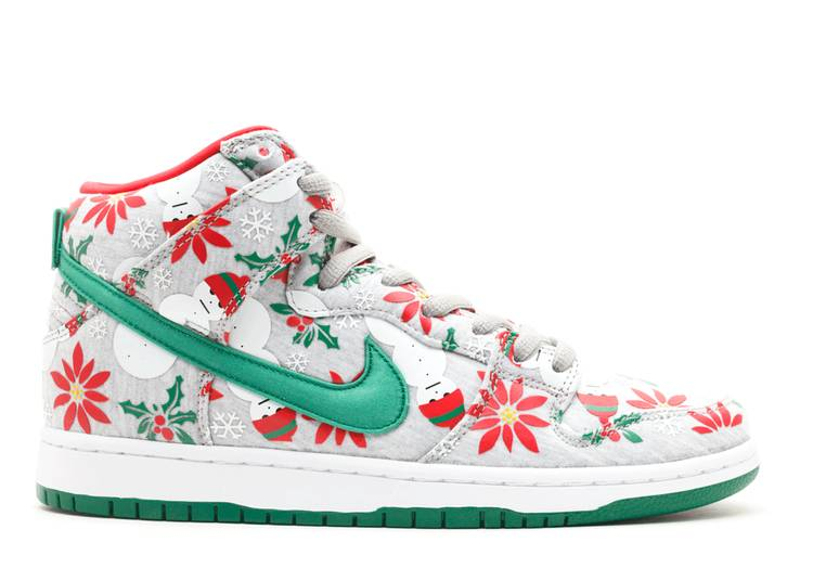 dunk high sb prm cncpts 'ugly christmas sweater'