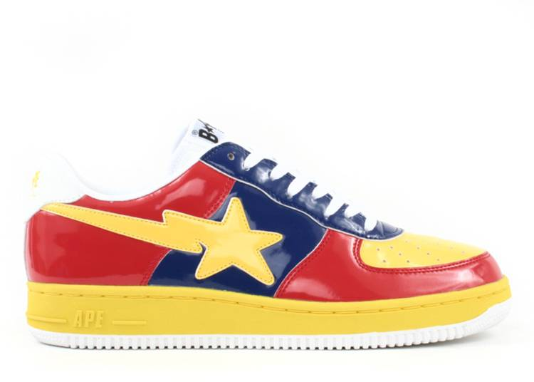 Bapesta FS-001 Low 'Yellow Red'