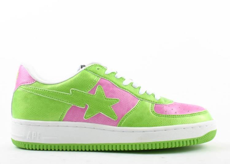 U.N.K.L.E. x Bapesta FS-001 Low 'Green Pink'