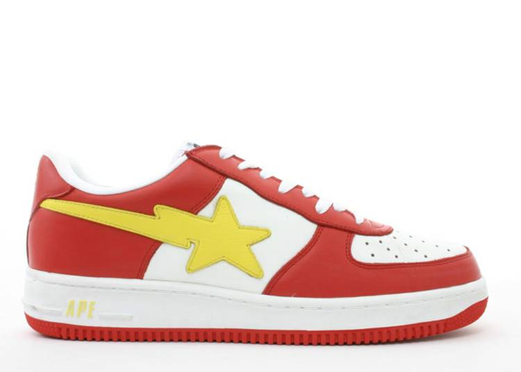 Bapesta FS-001 Low 'Red Yellow'