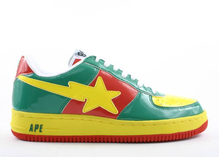 Bapesta FS-001 Low 'Rasta Green'