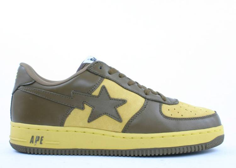 Bapesta FS-001 Low 'Olive Yellow'