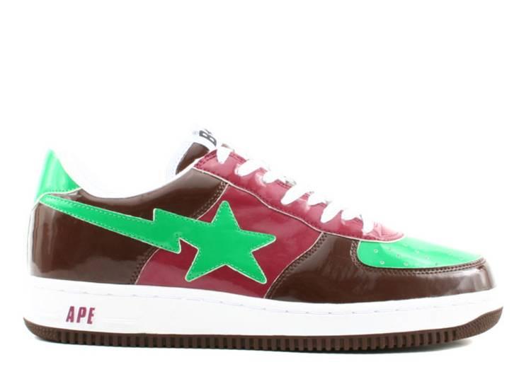 Bapesta FS-001 Low 'Green Brown Red'
