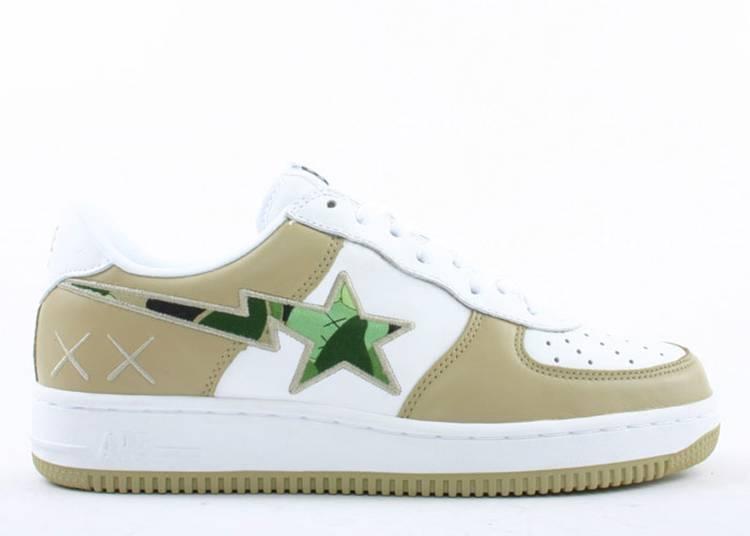 Kaws x Bapesta FS-001 Low 'Beige White Camo Green'