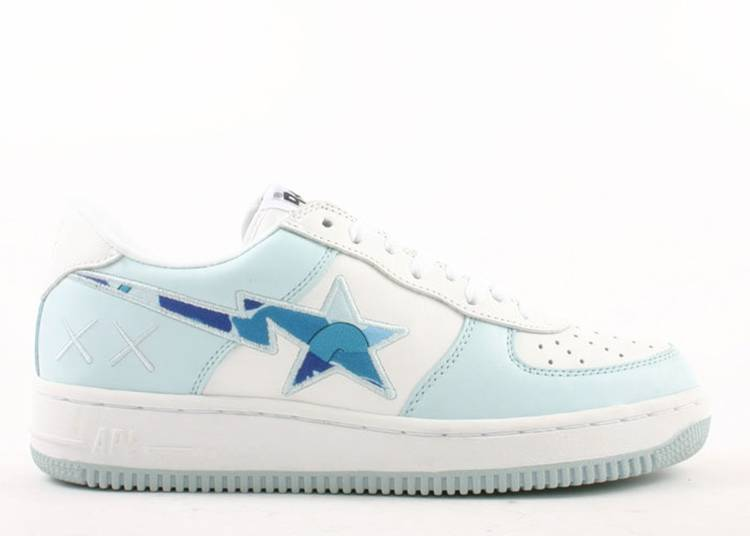 Kaws x Bapesta FS-001 Low 'Light Blue Camo'