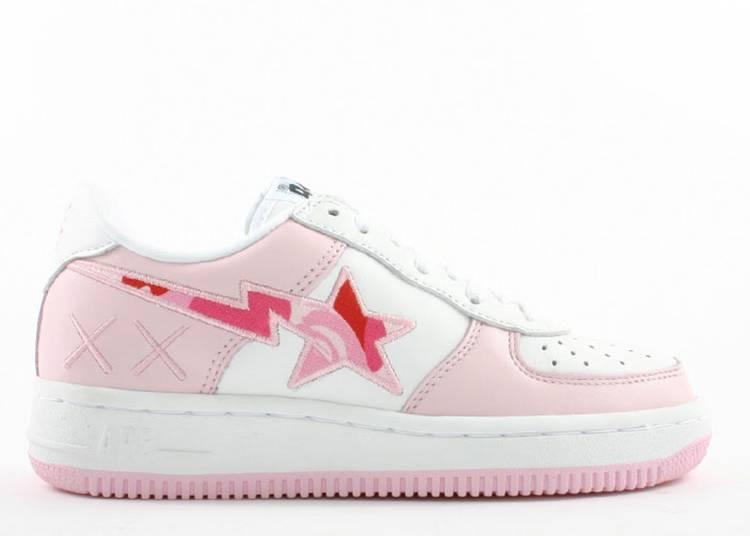 Kaws x Bapesta FS-001 Low 'Pink Camo'