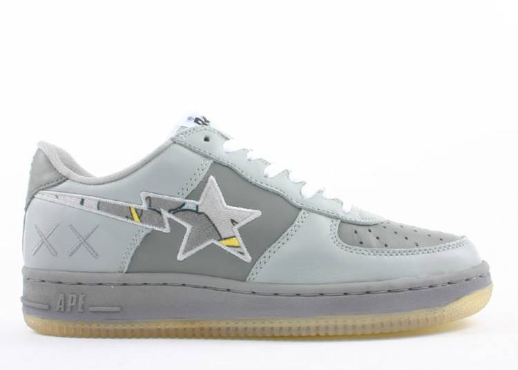Kaws x Bapesta FS-001 Low 'Yellow Grey'
