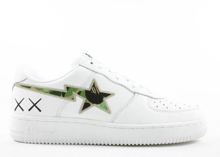 Kaws x Bapesta FS-001 Low 'White Camo Green'