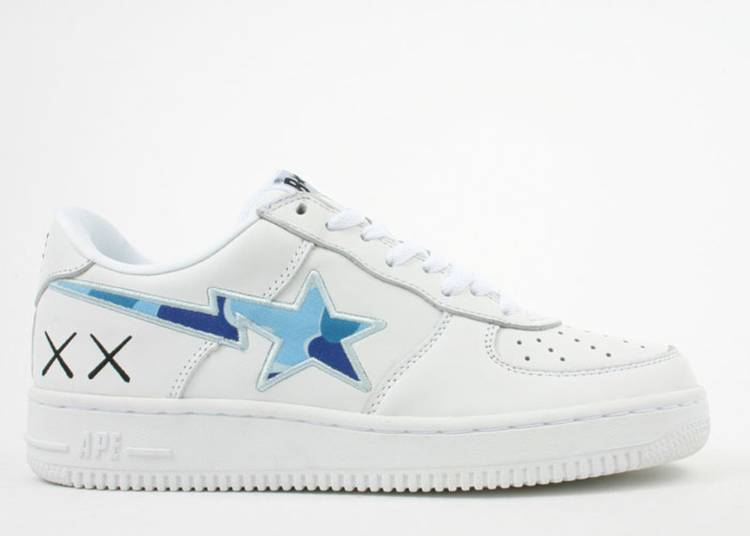 Kaws x Bapesta FS-001 Low 'White Blue Camo'