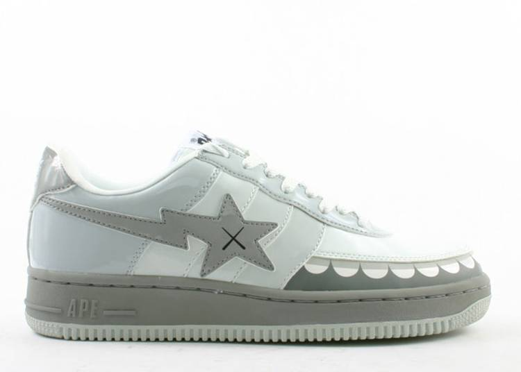 Kaws x Bapesta FS-029 Low 'Chompers - Grey'