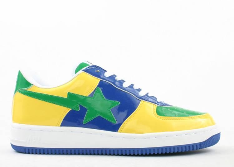 Bapesta FS-001 Low 'Yellow Blue Green'