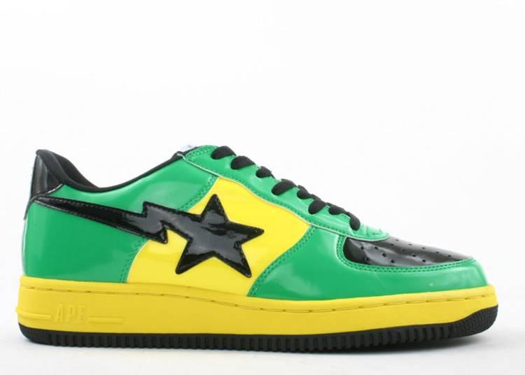 Bapesta FS-001 Low 'Green Yellow Black'