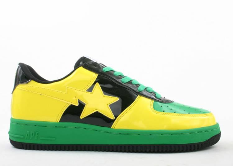 Bapesta FS-001 Low 'Yellow Black Green'