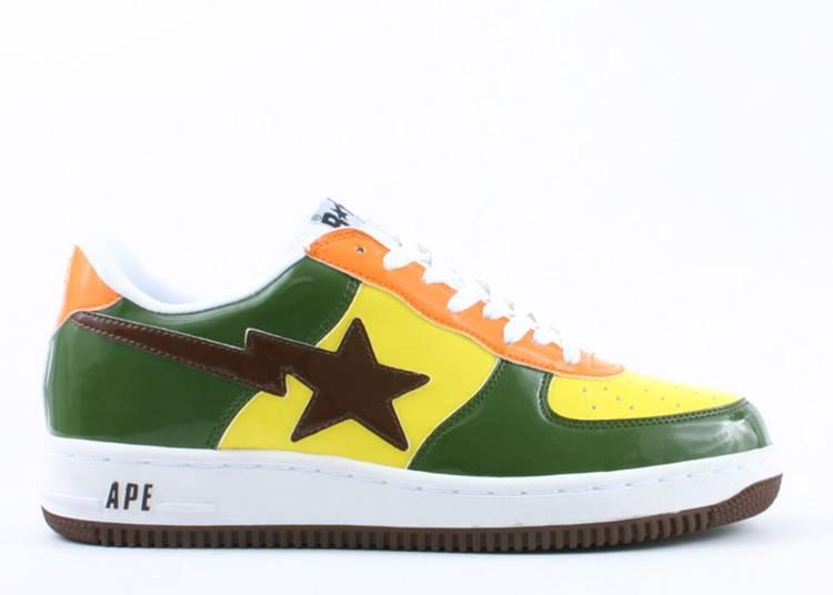 Bapesta FS-001 Low 'Yellow Green Orange'