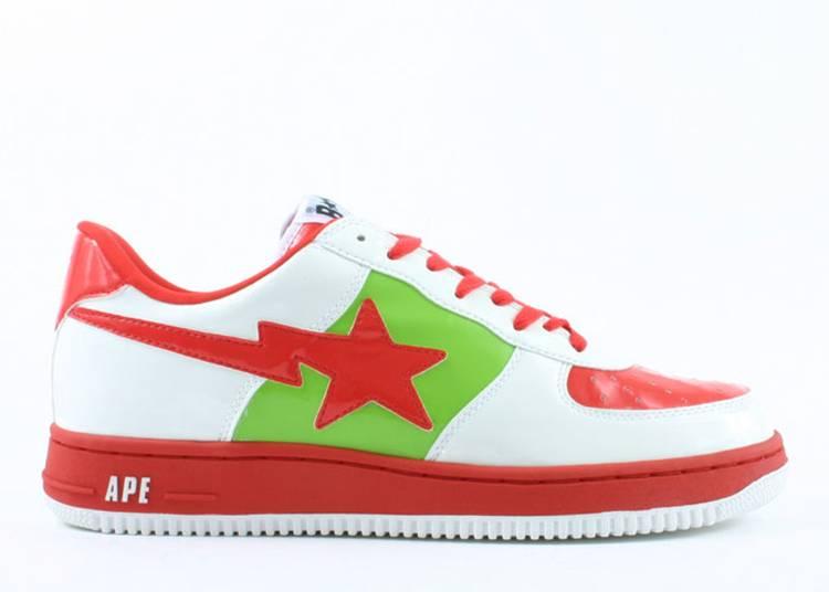 Bapesta FS-001 Low 'White Red Green'